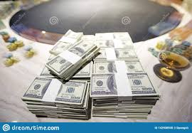 A Total Of Hundreds Of Dollars.Betting Is A Bet For Investors. The Gambling  Concept. Businessmen Are Gambling In Casinos.soft Focu Stock Image - Image  of exchange, concept: 142938945
