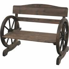 wagon wheel wooden garden
