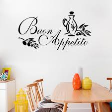 online shop b1 buon appetito wall art sticker italian quote kitchen decal greeting meal vinyl removable wall stickers for restaurant decor aliexpress  on is vinyl wall art easy to remove with online shop b1 buon appetito wall art sticker italian quote kitchen