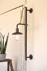 industrial modern lighting. Industrial Modern Vertically Adjustable Edison Plug In Wall Sconce Lighting O