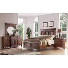Amazing 6PC:99090/EMMAS5/0 Traditional Pecan Brown 6 Piece Queen Bedroom Set