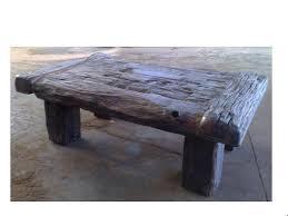 rustic rough look sleeper coffee table