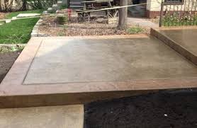 Stained Concrete Patio Modern with Tan Driveway Professionals
