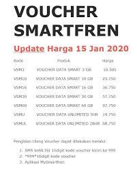 Kode voucher serta smartpoin bukan. Juragan Pulsa Voucher Smartfren Update Harga 15 Jan 2020 Facebook