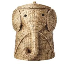 astounding natural rattan elephant wicker hamper for Home Decorators  Collection 18 inch in Animal Laundry Hamper