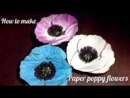 Make A Paper Poppy Flower How To Make Paper Poppy Flower L Diy Paper Poppy Flower L