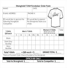 Fundraiser Form Templates Fundraiser Form Template Free Naomijorge Co