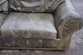 ferguson copeland ltd distressed green leather sofa cad