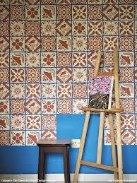 colorful pink and blue mexican tiles wall stencils royal design studio talavera  on talavera style wall art with mexican talavera tiles wall furniture stencils royal design