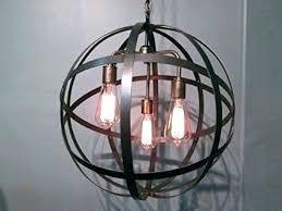 crate and barrel light fixtures barrel light fixture industrial steel orb sphere wine barrel ring chandelier