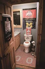 man cave bathroom. Wonderful Bathroom FEAMANCAVE24pOhioStatedecoratedbathroom For Man Cave Bathroom