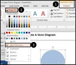 How To Put A Venn Diagram In Word How To Make A Venn Diagram In Powerpoint Step By Step