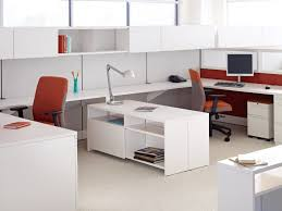high gloss office furniture. Office : Introducing Antenna Workspaces White Laminate Floor High Gloss Furniture Desk Lamp Orange And Brown Fabric Comvy