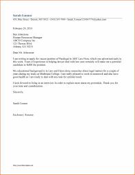 Legal Secretary Cover Letter Sop Proposal