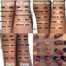 Mac Foundation Shades Chart 7 Best Foundation Shade Match Images Makeup Swatches