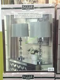 costco floor lamp crystal 2 pack table lamp set