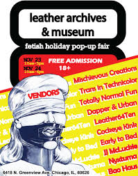 Fetish Holiday <b>Pop</b>-<b>Up</b> Fair in Chicago at <b>Leather</b> Archives and