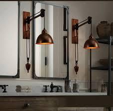 pulley lighting. sconce bar rustic spindle pulley wall lamp light e27 led bulb arandela vintage industrial lighting g
