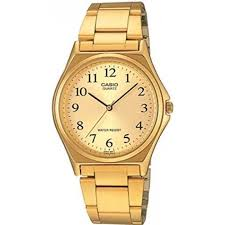 casio mtp 1130n 9b gold plated watch for men