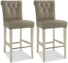 Bar Stools:Backless Bar Stools Grey Upholstered Counter Height Leather  Nailhead With Back Gray Clearance