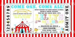 Carnival Ticket Invitation Template Birthday Invitations Circus Free ...