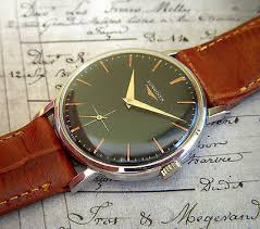 vintage watches vintage swiss made longines mens watch 1960s black dial 17 jewels movement