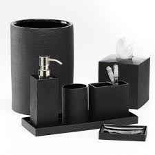 Sophisticated Bathroom Accessory Sets Accessories Of Black ...