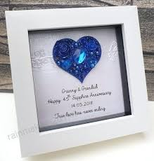 wedding anniversary gift sapphire frame 45th marriage ideas