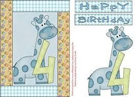 Happy 4th Birthday Giraffe Boy by Audrey Rae: Amazon.co.uk: Kitchen & Home