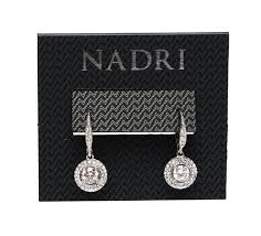 nadri silver plated crystal women s drop leverback earrings 0104