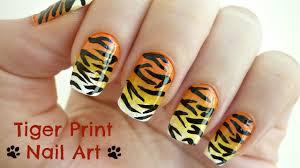 Tiger Print Nail Art! - YouTube