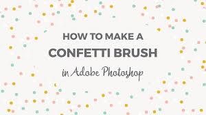 Confetti Brush Photoshop How To Make A Confetti Brush In Photoshop