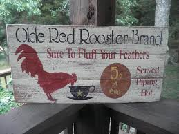 primitive country sign rooster coffee kitchen on primitive kitchen wall art with primitive country sign rooster coffee kitchen tierra este 85791