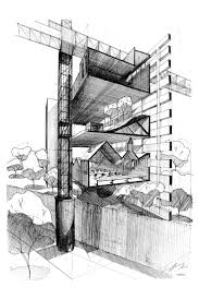architecture sketches. aa school of architecture projects review 2011 inter 12 cliff tan sketches
