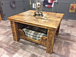 bed end table. Incredible 3ft X Rustic Hand Made Coffee Table With Reclaimed Timber End Dog Bed Decor