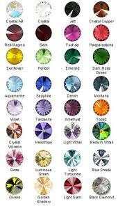 Swarovski Rivoli Color Chart Google Search Green