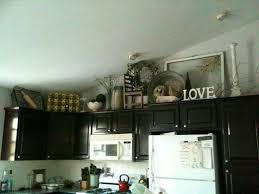 decorating above kitchen cabinet antiques nature
