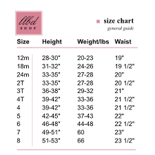 Toddler Girl Size Chart 14 Unusual Size Chart For Childrens Clothing