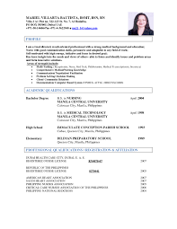 Sample Resume Medical Technologist Philippines New Pleasant Medical