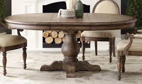 Kitchen:Incredible Round Pedestal Kitchen Table Throughout Rustic Oval Kitchen  Table With Fluted Pedestal Farmhouse