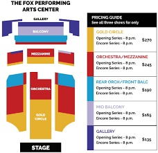 The Fox Theater Pomona Seating Chart Broadway At The Fox Learn More About Season Membership