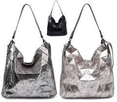 Designer Slouch Bags Ladies Faux Leather 3d Tassel Slouch Designer Style Tote Shoulder Shopper Bag Uk