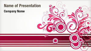 Red Floral Abstract Powerpoint Templates Red Floral