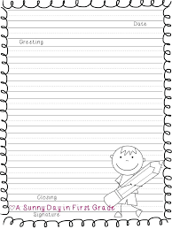 Primary Letter Writing Paper First Grade Writing Paper Printable Letter Writing Paper