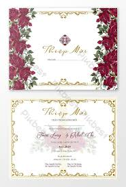 Beautiful Wedding Invitation Card Template Creative Wedding