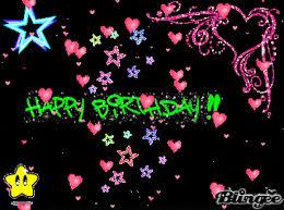 happy birthday images animated happy birthday myspace gif sparkly gif animated gif popkey