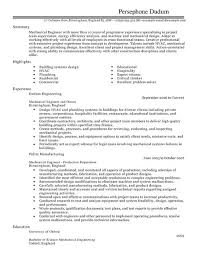 Mechanical Engineer Resume Template Stunning Mechanical Engineer CV Template CV Samples Examples