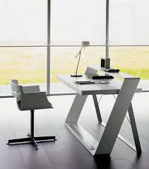 white modern office.  office interesting white modern office furniture also home design  decorating with and i