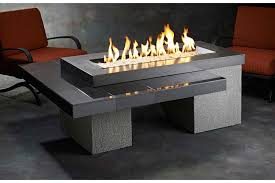 image of modern gas fire pit table