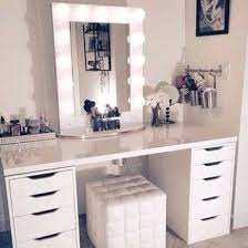makeup vanity table with lighted mirror house decorations